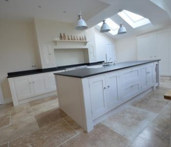 Installation of Indian Black Leathered Granite Worktops in Chandlers Ford