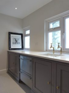 White quartz kitch worktop