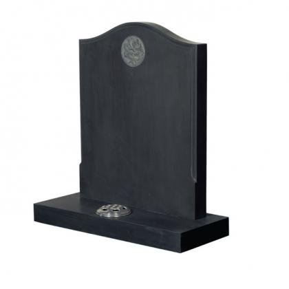Birdham 7 Black Welsh Slate Memorial Headstone and Gravestone