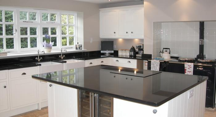 Back granite kitchen worktop
