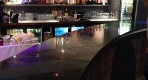 Bar counter in granite
