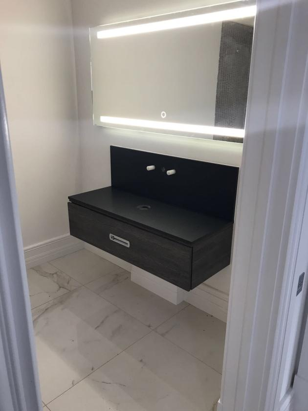 Carrara Marble Amp Black Granite Bathroom Worktops Aldwick Bay