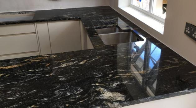 Cosmic Black Granite Worktops Horsham County Stone Granite