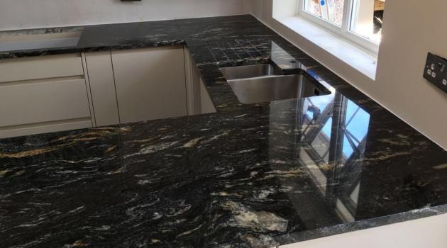 Cosmic Black Granite Worktops Horsham County Stone Granite