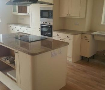 Installation of Ivory Chiffon Granite Kitchen Worktops in Apuldram, Chichester