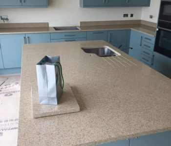 Installation of Cimstone Lapaz Kitchen Worktops in Selsey