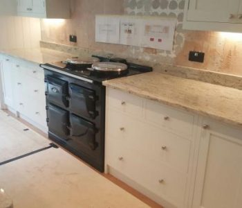 Installation of River White Granite Kitchen Worktops in Watersfield