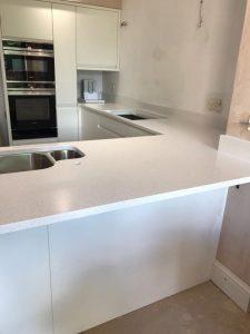 Fitted blanco maple silestone quartz worktops