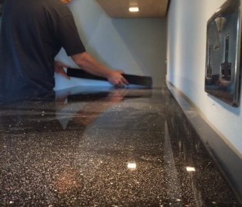 Installation of Star Galaxy Granite Kitchen Worktops in Charlwood, West Sussex
