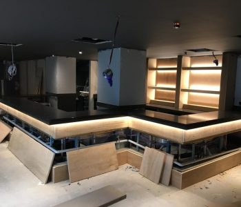 Bar worktop at 'Ruby's' under construction