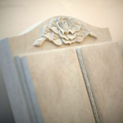 County Stone Cremation Headstone with Handcrafted Detail