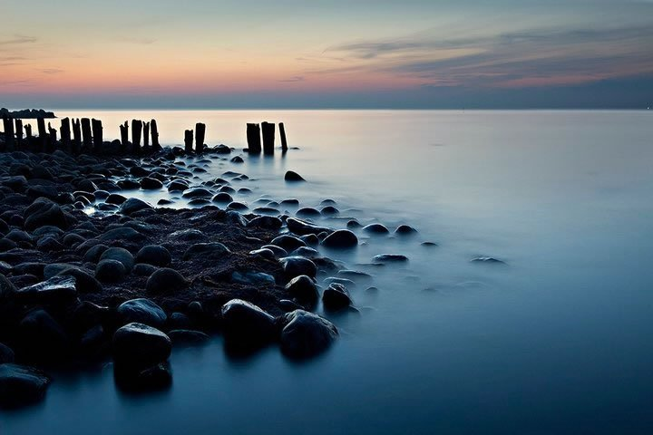 stones at waters edge