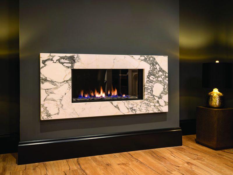 Bespoke Modern Stone Fireplace