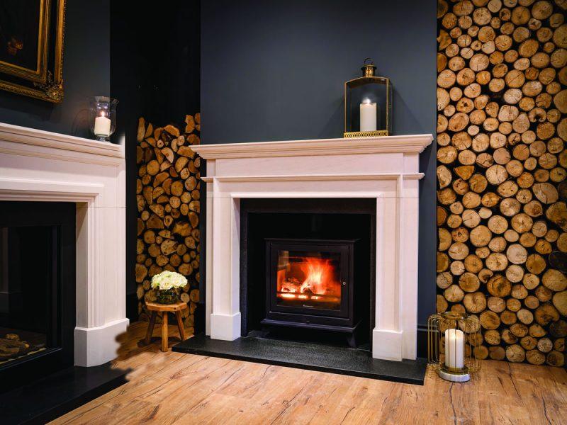 Rogate Traditional Limestone Fireplace Surround