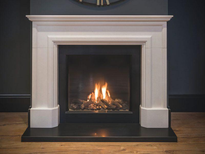 Sutton Contemporary Traditional Limestone Fireplace Surround